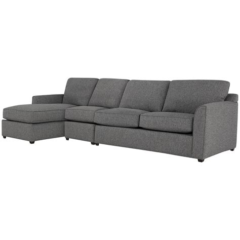 gray fabric sectional with chaise city furniture asheville gray fabric small left chaise