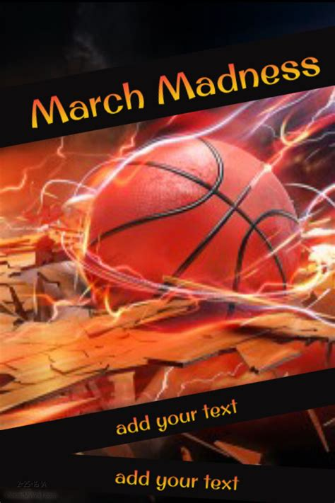 march madness flyer design click to customize march madness