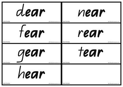 eer pattern words image gallery ear words