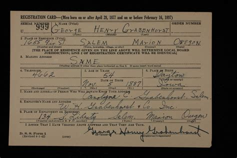 Salem Oregon Divorce Records Descendents Of Henry George Grabenhorst George Henry