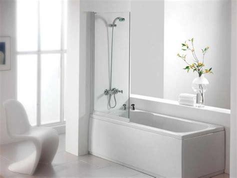 Good Half Bathroom Designs #4: Compact-Elegant-White-Tiled-Bathtub-And-Shower-Combo.jpg