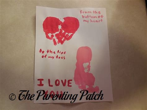 toddler valentines day handprint footprint s day craft parenting patch