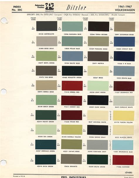 vw paint colors chart html autos post