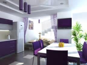 Purple Kitchen Decorating Ideas Interior Design Trends 2017 Purple Kitchen