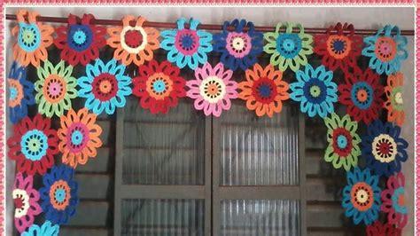 cortinas de colores tejidos  crochet nuevos modelos youtube