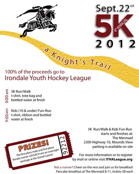 5k flyer template a s trail 5k irondale youth hockey association
