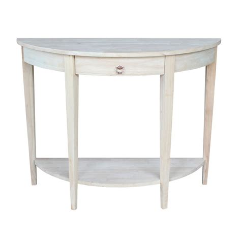 shop international concepts rubberwood console table at