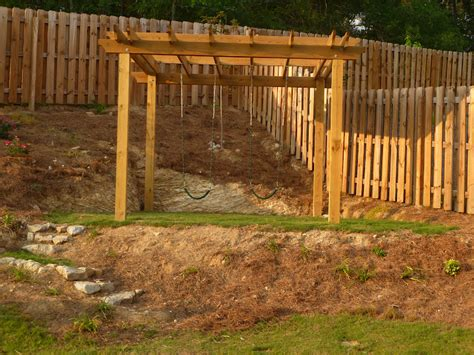 pergola swing set only from scratch diy pergola swingest for the backyard