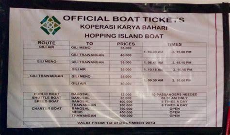 gili air boat schedule public transport gili trawangan to gili air meno by boat