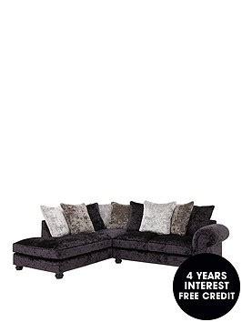Corner Sofa Interest Free Credit by Laurence Llewelyn Bowen Scarpa Fabric Scatter Back Left