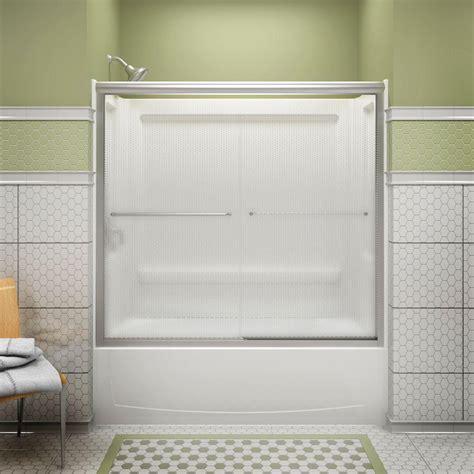 sterling bathtub door sterling finesse 59 5 8 in x 58 1 16 in semi frameless