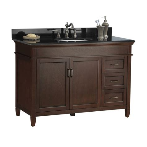 cabinet and granite depot foremost ashburn 49 in w x 22 in d vanity in mahogany