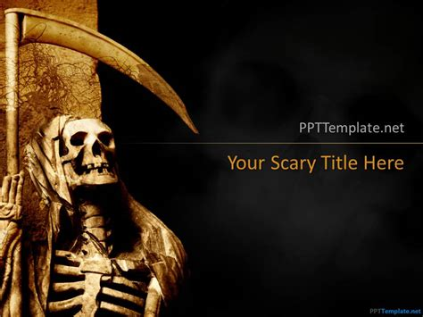 scary powerpoint templates free scary ppt templates