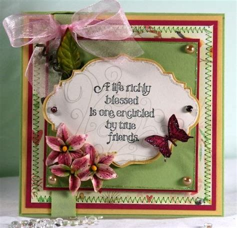 Handmade Friendship Greeting Cards - friendship cards handmade friendship card