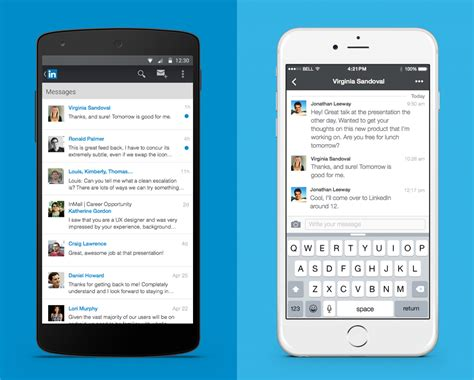 linked in mobile new messaging experience comes to linkedin finally