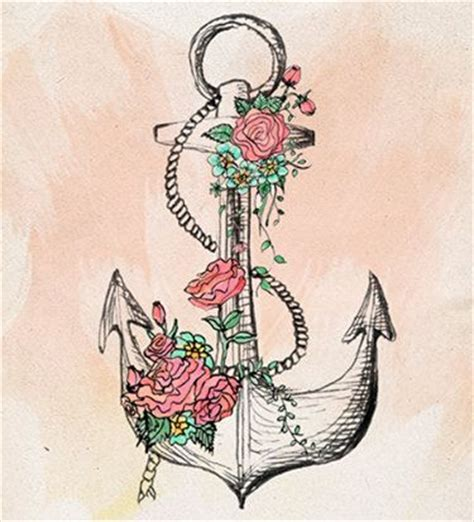 anclas y flores anclas tattoo pinterest