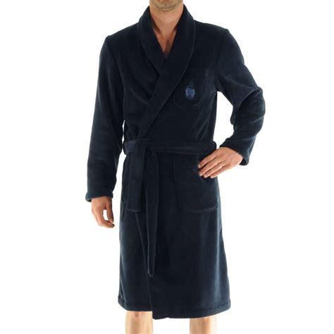 robe de chambre homme lacoste robe de chambre baikal christian en polaire bleu
