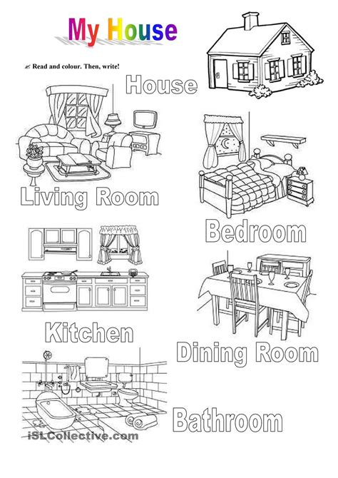 my house printable activities my house teaching pinterest house english and