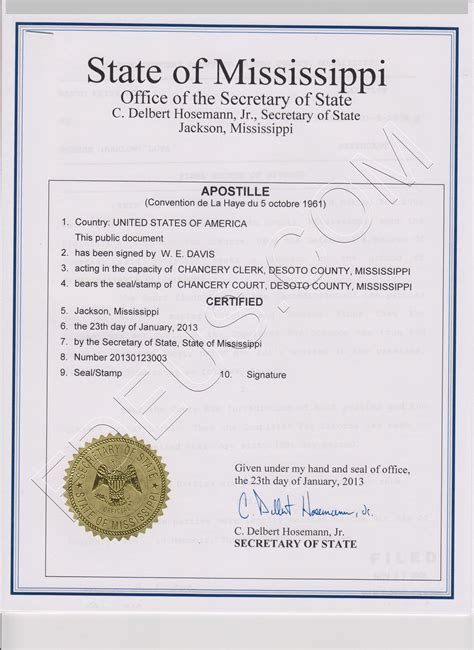 Mississippi Court Records Mississippi Apostille The Following Documents Are Acceptable For Mississippi