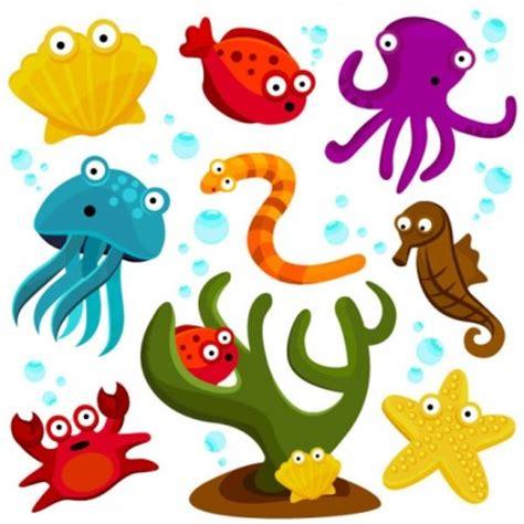 wallpaper kerang bintang laut kartun hewan laut vector kartun vektor vektor gratis
