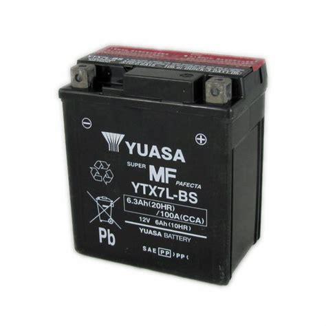 Motorradbatterie 12v 6ah by Yuasa Motorcycle Battery Ytx7l Bs 12v 6a From County