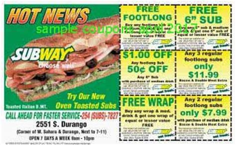 printable subway coupons november 2017 printable coupons 2017 subway coupons