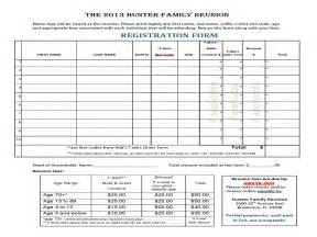 family reunion t shirt order form template family reunion registration forms printable