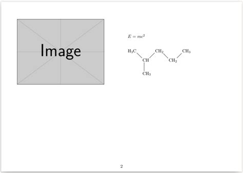 layout grid in latex graphics how to arrange picture equation and chemical