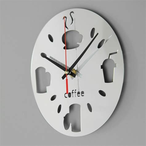 contemporary kitchen wall clocks modern design kitchen wall clock mirror acrylic room bar
