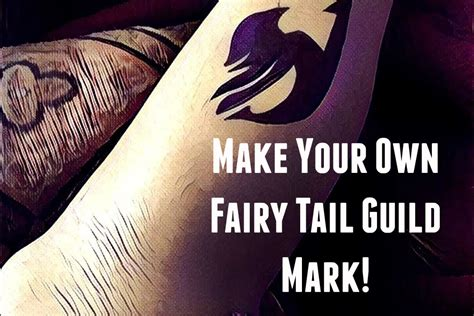 how to make a temporary fairy tail guild mark youtube