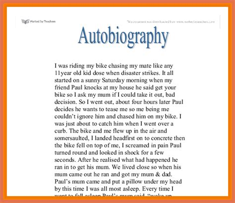 biography exle of yourself 25 best ideas about autobiography writing on 28 images