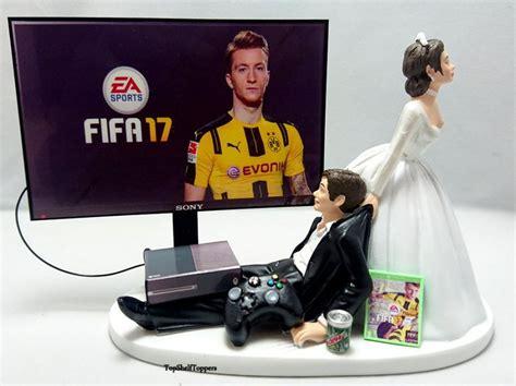 Wedding Cake Xbox by Wedding Cake Topper Fifa17 Gamer Xbox One Ps4 Pc 2608491