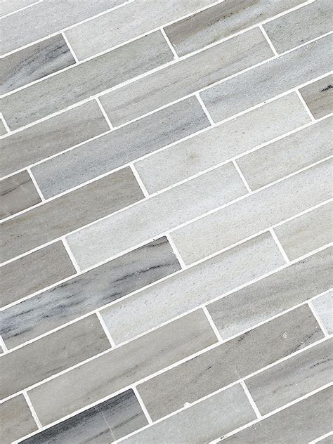 Discount Kitchen Backsplash Tile by Modern White Gray Subway Marble Backsplash Tile