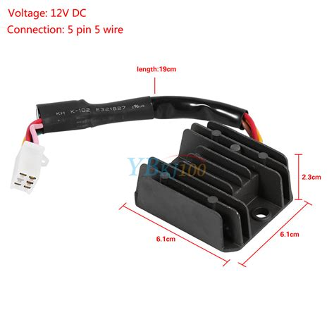 universal 12v 5 pin wire voltage regulator rectifier for