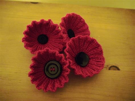 knitting pattern for poppies hand made hello from helen