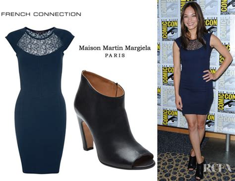 Catwalk To Carpet Kerry Washington In Maison Martin Margiela by Kristin Kreuk S Connection Lori Lace Cap Sleeve