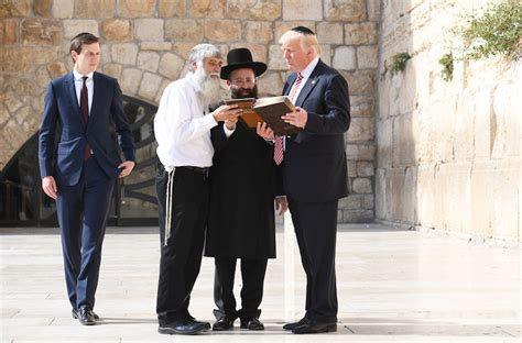 donald trump yerusalem trump family make private visit to western wall the