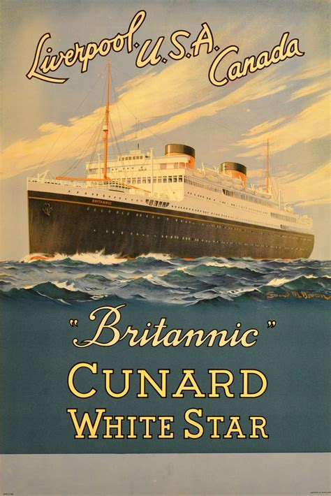 1930s Home Decor samuel m brown original vintage cruise ship poster