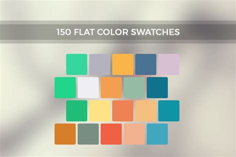 flat color inspire me 150 flat color swatches palettes on