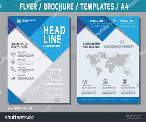 brochure template size flyer design vector template in a4 size brochure booklet