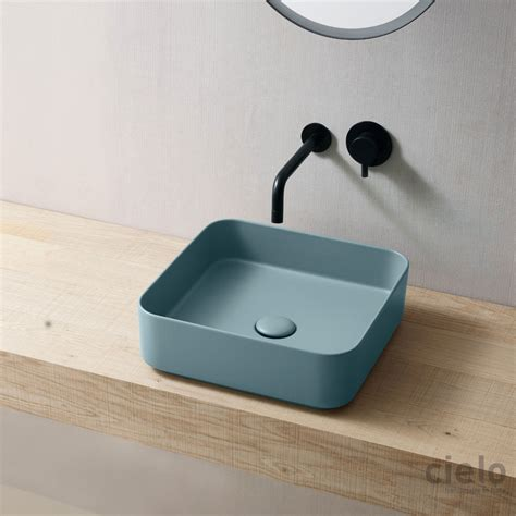coloured bathroom basins square washbasin 40 colored arenaria shui comfort wash