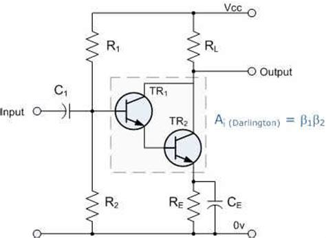 transistor and darlington pair as a switch class a lifier