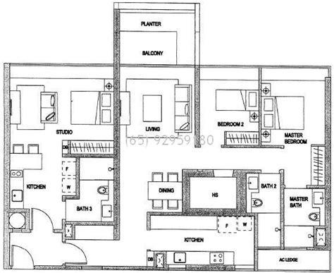 Large Open Floor Plans minton condo the minton