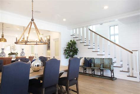 foyer open to dining room cape cod inspired cottage home bunch interior