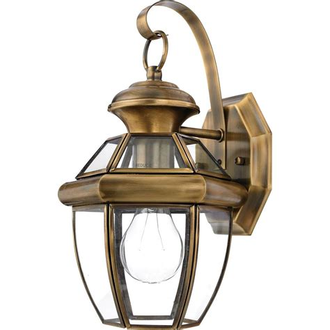 Brass Outdoor Lighting Fixtures Ny8315a Quoizel Lighting Ny8315a Newbury Outdoor Fixture In Antique Brass Goinglighting