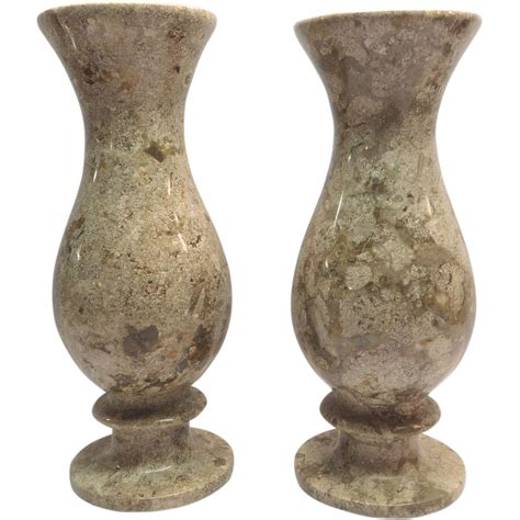Vase Pedestal marble vases taupe colored with pedestal base from artgate on ruby
