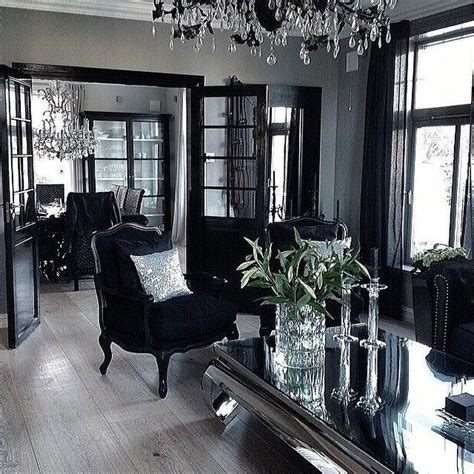 Black Grey Silver Living Room by Lavish Glamorous Light Grey Black And Silver Home