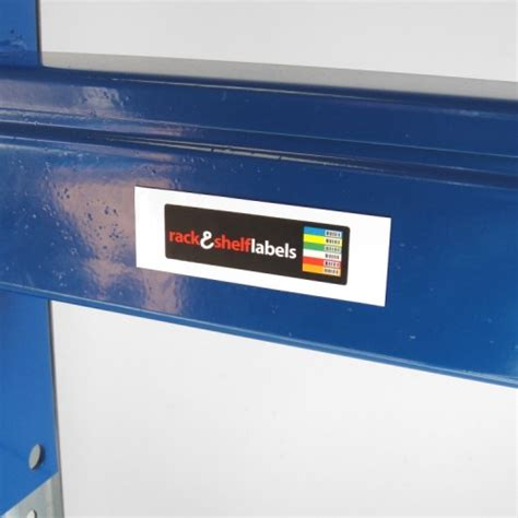 Warehouse Rack Labels by Blank Magnetic Labels 25mm X 80mm X 0 85mm Rack Shelf
