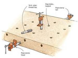 how to make bench dogs dog holes parf dogs bench dogs shop ideas pinterest