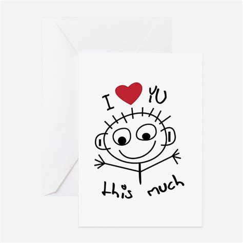 i you this much card template i you greeting cards card ideas sayings designs